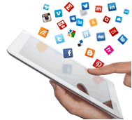 social media use on tablet