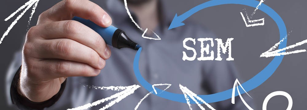 Search Engine Marketing concept graphic